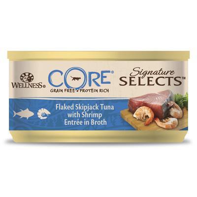 Wellness CORE Консервы для кошек в виде кусочков, тунец с креветками  в бульоне 10635, 0,079 кг, 54022