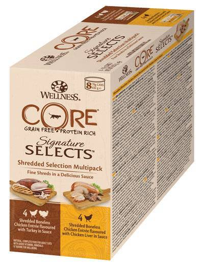 Wellness Core влажный корм для взрослых кошек всех пород, куриное филе, ассорти 630 гр
