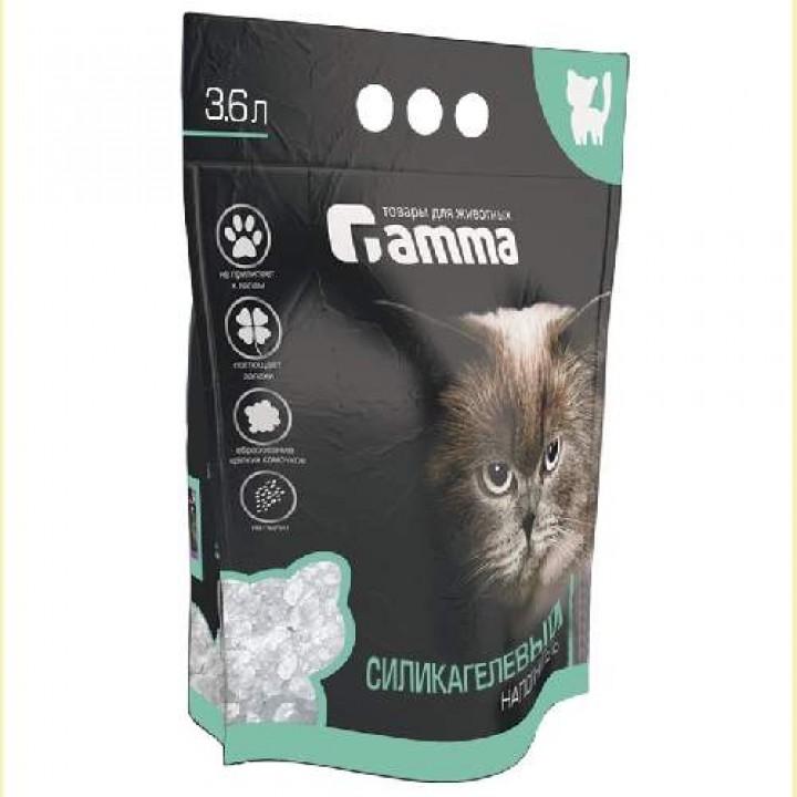 Gamma силикагелевый впитывающий наполнитель для кошачьего туалета 3,6 л