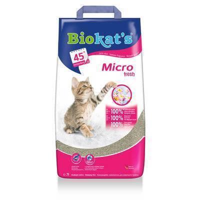 BioKats Micro комкующийся наполнитель для кошачьих туалетов, аромат летнего бриза 7 л