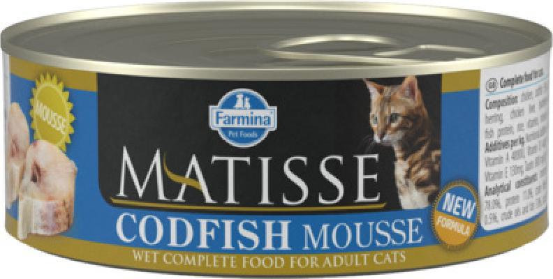 Farmina Matisse влажный корм для взрослых кошек, треска 85 гр
