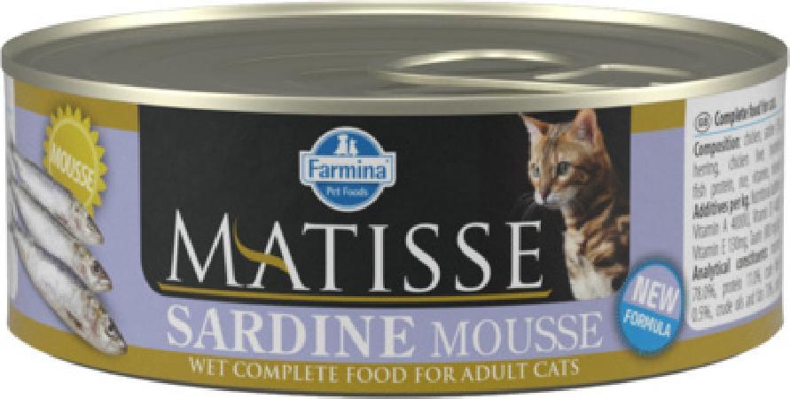 Farmina Matisse влажный корм для взрослых кошек, сардины 85 гр