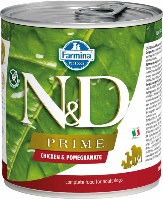 Farmina влажный корм для взрослых собак, беззерновой, курица и гранат 285 гр