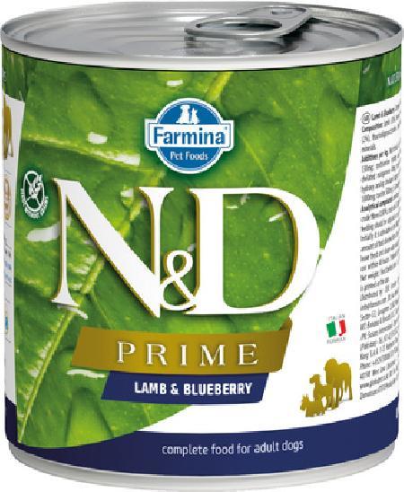 FARMINA Консервы для собак PRIME ягнёнок с черникой 10848, 0,285 кг