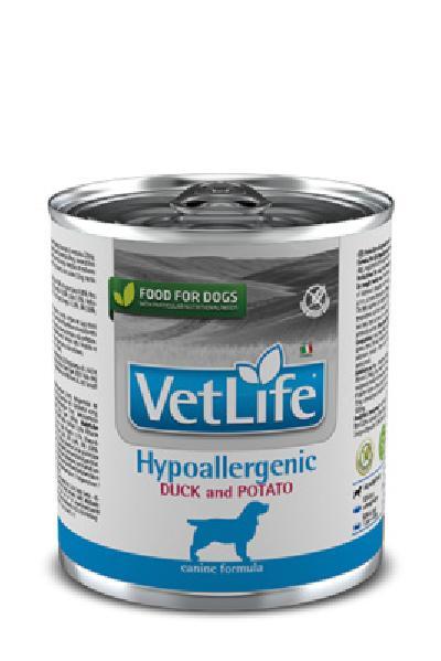FARMINA вет.корма Консервы для собак гипоаллергенные VET LIFE утка с картофелем 10854, 0,300 кг