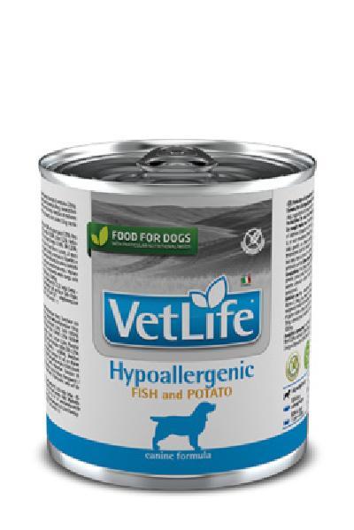 FARMINA вет.корма Консервы для собак гипоаллергенные VET LIFE рыба с картофелем 10855, 0,300 кг