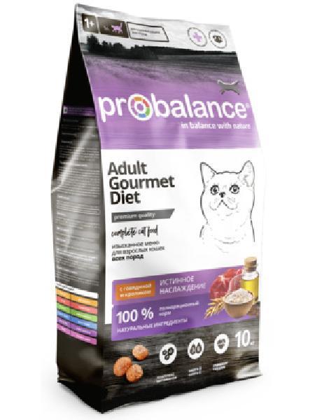 Probalance Сухой корм для кошек с говядиной и кроликом, истинное удовольствие 50 PB 212, 10,000 кг