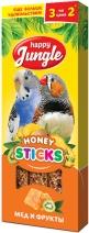 Happy Jungle Палочки мед с фруктами лакомство для птиц 50 гр