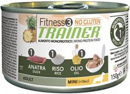 Трейнер 035895 Fitness3 No Gluten Adult Mini кон.д/собак мелких пород с Уткой и рисом 150г, 41139