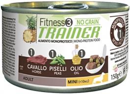 Трейнер 035901 Fitness3 No Grain Adult Mini кон.д/собак мелких пород беззерновые с Кониной и горохом 150г, 41142