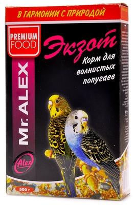 Mr.Alex ВИА Корм для попугаев Экзот, 0,500 кг