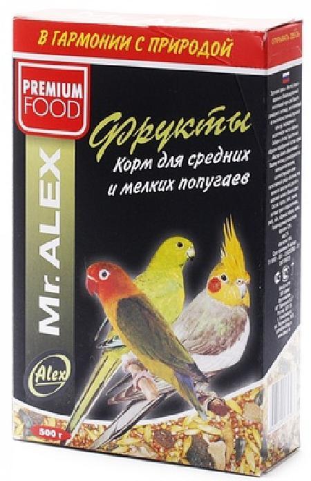 Mr.Alex Корм для средних и мелких попугаев Фрукты, 0,500 кг, 45190