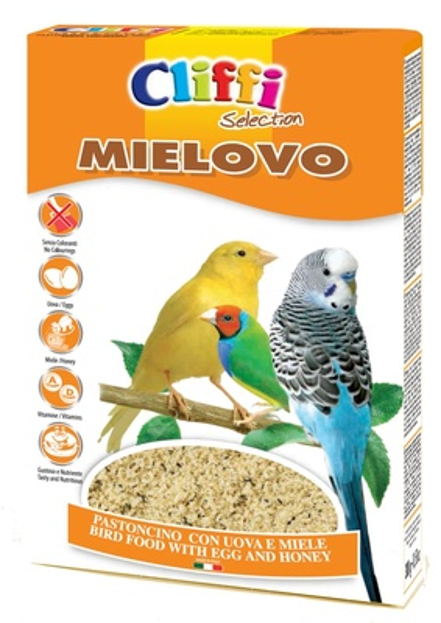 Cliffi (Италия) Яичный корм с медом для всех Зерноядных птиц (Mielovo) PCOA217, 0,300 кг