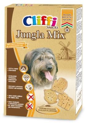 Cliffi (Италия) Лакомство для собак Хрустящее печенье (Jungla mix ) PCAT208, 0,400 кг, 15545