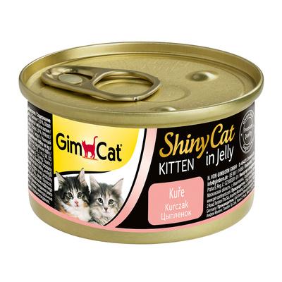 Gimpet Shiny Cat влажный корм для котят, с цыпленком 70 гр