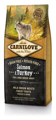 Carnilove Беззерновой корм для взрослых собак крупных пород Salmon & Turkey for LargeBreed Adult с лососем и индейкой 150821, 12,000 кг, 54518