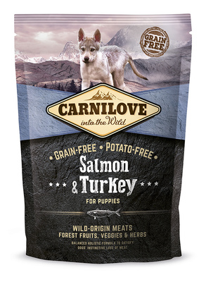 Carnilove Беззерновой корм для щенков всех пород Salmon & Turkey for Puppies с лососем и индейкой 150815, 12,000 кг, 54509