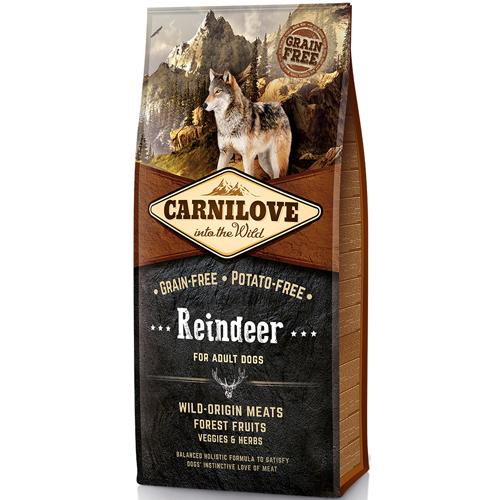 Carnilove корм для взрослых собак всех пород, северный олень 1,5 кг