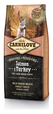 Carnilove Беззерновой корм для щенков крупных пород Salmon& Turkey for LargeBreed Puppy с лососем и индейкой 150816, 12,000 кг, 54510