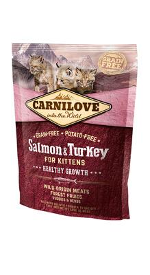 Carnilove корм для котят всех пород, беззерновой, лосось и индейка 6 кг