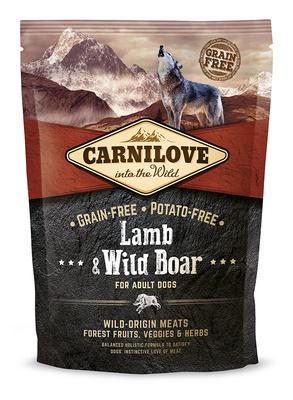 Carnilove Беззерновой корм для взрослых собак всех пород Lamb & Wild Boar for Adult с ягненком и диким кабаном 150824, 1,500 кг, 54511