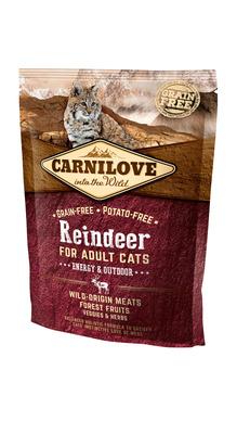 Carnilove Сухой корм для активных кошек Reindeer for Adult Cats Energy & Outdoor с северным оленем 512263, 0,400 кг