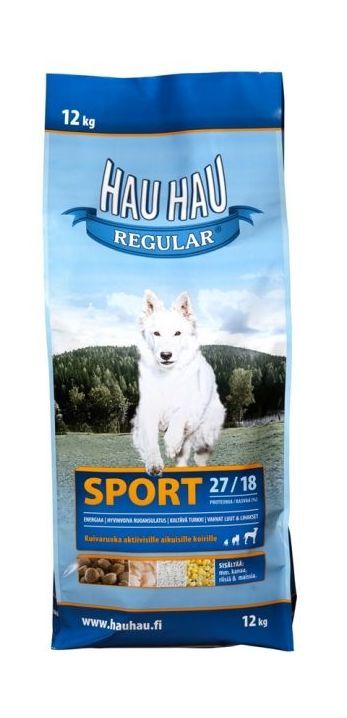 Hau-Hau Regular Sport 12кг корм для активных собак всех пород
