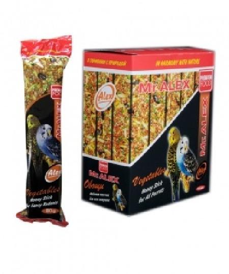 Mr.Alex Медовая палочка для попугаев Овощи, 0,080 кг