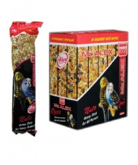 Mr.Alex Медовая палочка для попугаев Орех, 0,080 кг