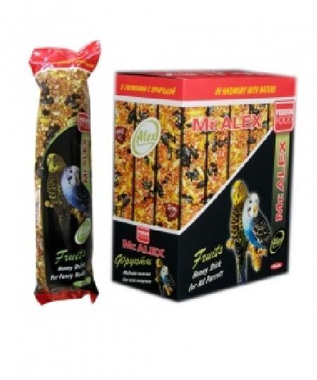 Mr.Alex Медовая палочка для попугаев Фрукты, 0,080 кг