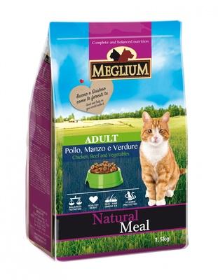 Meglium корм для кошек, говядина, курица, овощи 3 кг