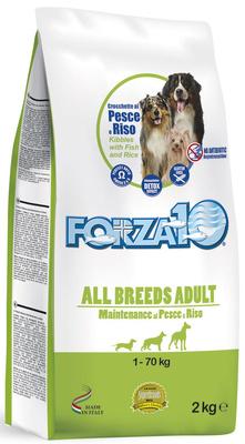 Forza 10 корм для взрослых собак всех пород, рыба и рис 2 кг