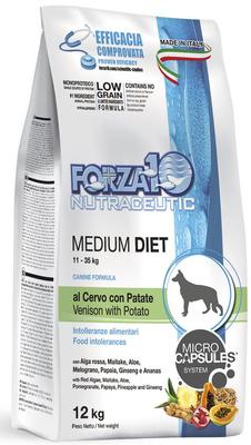 Forza10 Диетический корм для взрослых собак средних пород из оленины и картофеля 0110012, 12,000 кг