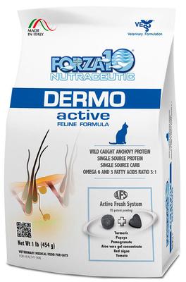 Forza 10 корм для активных взрослых кошек всех пород с проблемами кожи, рыба (выведен) 454 гр