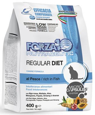 Forza 10 корм для взрослых кошек всех пород при аллергии или пищевой непереносимости, рыба 400 гр