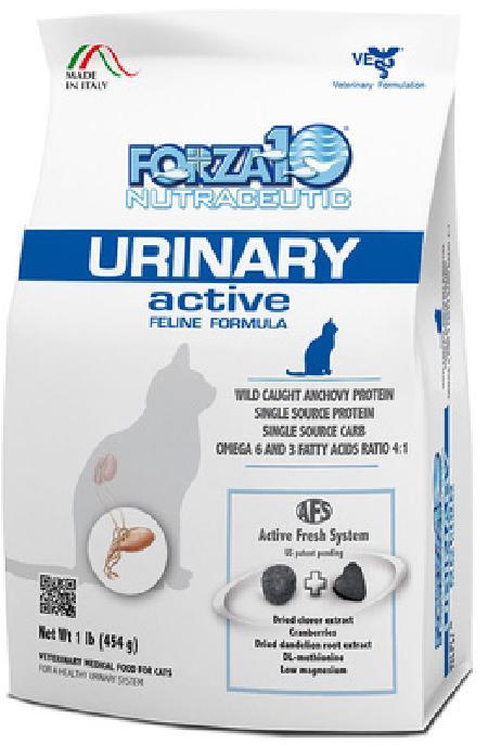 Forza 10 корм для взрослых кошек всех пород с паталогиями мочевыводящих путей, рыба 454 гр