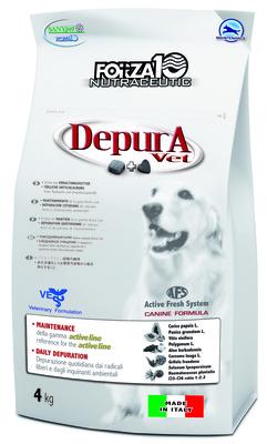 Forza 10 корм для взрослых собак всех пород для очищения организма от токсинов, рыба 4 кг