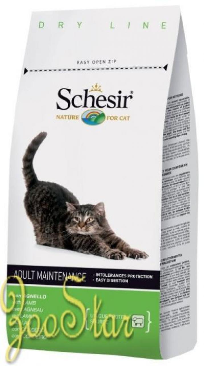 Schesir корм для взрослых кошек всех пород с ягненком 1,5 кг