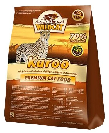 Wildcat Корм для кошек Karoo (мясо птиц и кролика) 500г, WCK05