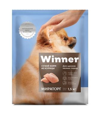 Winner ВИА Сухой корм для щенков мелких пород с курицей, 1,500 кг