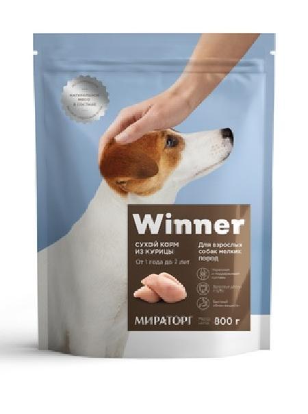 Winner ВИА Сухой корм для взрослых собак мелких пород с курицей, 0,800 кг