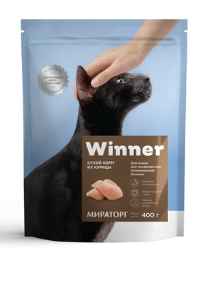 Winner ВИА Сухой корм для кошек с мочекаменной болезнью с курицией, 0,400 кг