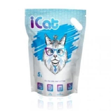 iCat силикагелевый наполнитель для кошачьих туалетов, без ароматизатора 5 л