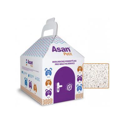 Наполнитель для мелких грызунов Асан Asan Petit 4,5L, бумажный 2 в 1 наполнитель+дом