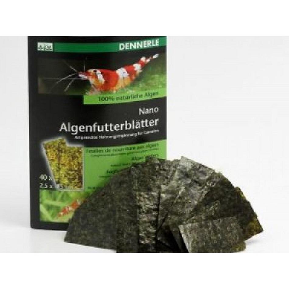 [281.5917]  Dennerle Nano Algae Wafers - Натуральный корм из водорослей в форме листков для креветок, 40 шт., 281.5917