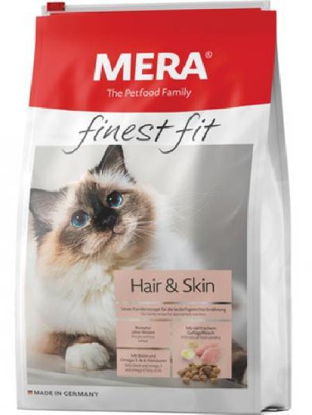 MERA ВИА Полнорационный корм для взрослых кошек для здоровой кожи и шерсти (Mera Finest Fit Hair & Skin) , 0,400 кг, 37987