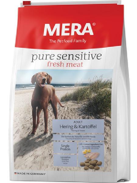 MERA Беззерновой корм для взрослых собак с сельдью и картофелем (подходит для собак с чувствительным пищеварением и/или аллергиями) (Mera Рure Sensitive  fresh meat Adult Hering&Kartoffel) , 1,000 кг, 37935