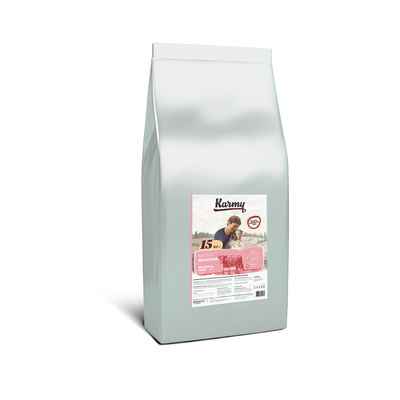 Karmy корм для взрослых собак средних и крупных пород, для привередливых, телятина 15 кг