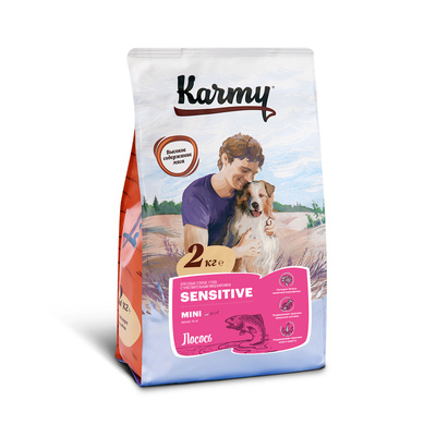 Karmy корм для взрослых собак малых пород, деликатное пищеварение, лосось 2 кг