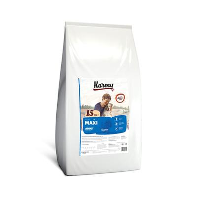 Karmy корм для взрослых собак крупных пород, индейка 15 кг